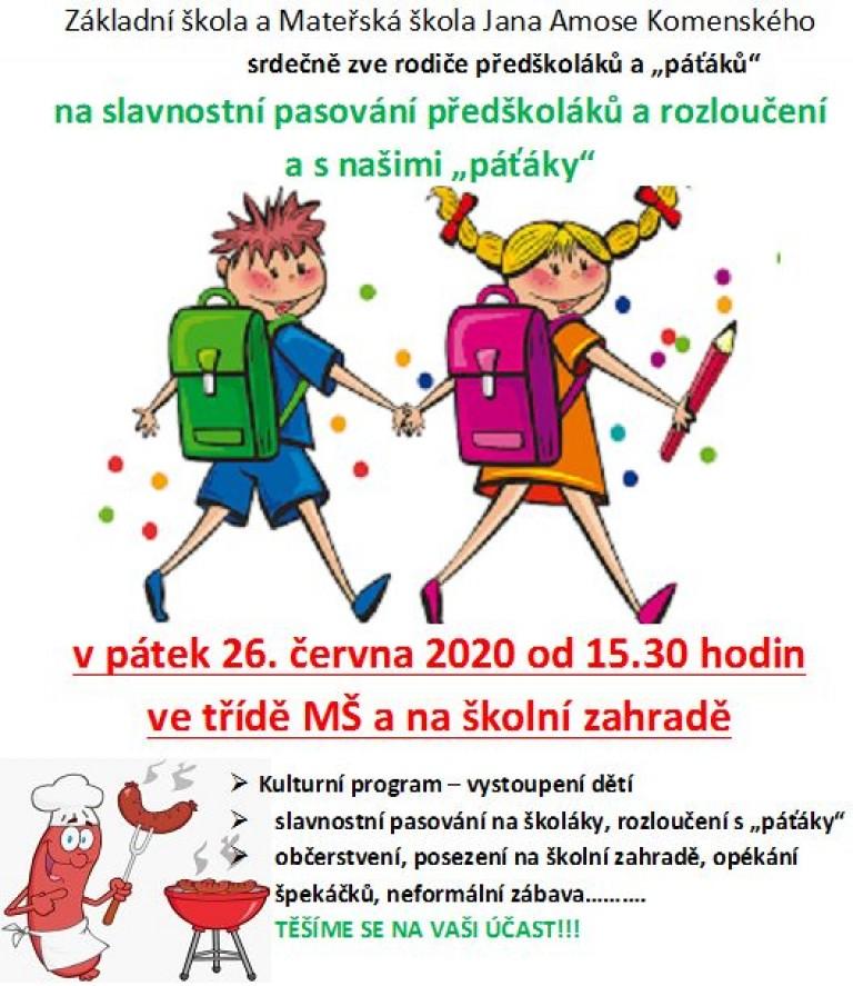 pasování předškoláků 2020